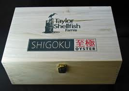 Taylor Shellfish Farms box - Shigoku Oyster Opened
