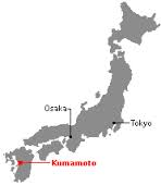 Map of Japan locating Kumamoto